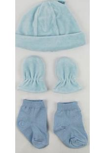 Kit Sapatinho Everly Plush - Masculino-Azul