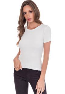 Camiseta Myah Básica Branco