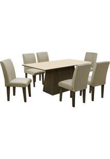 Conjunto De Mesa & Cadeiras Saint Germain Para 6 Lugaresdobuê
