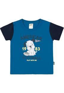 Camiseta Bebê Pulla Bulla Meia Malha Masculina - Masculino