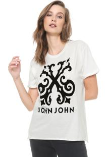 Camiseta John John Floco Off-White
