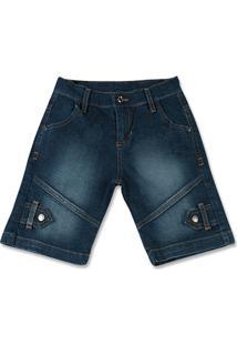 Bermuda Infantil Avulsa Masculina Indigo - Masculino-Jeans