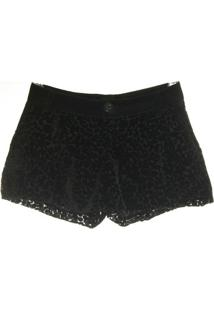 Short Veludo Devore - Authoria - Feminino-Preto