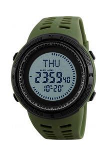 Relógio Skmei Digital -1254- Verde Army