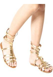 Rasteira Gladiadora Petite Jolie Dourada