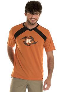 Camisa Konciny Decote V Dry Fit Laranja