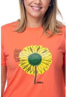 Camiseta Funfit Flor Desperte Feminina - Feminino