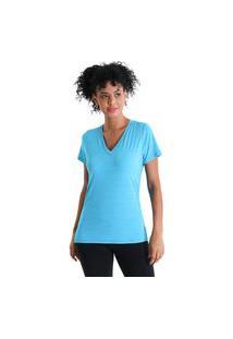 Camiseta Gola V Energy - Azul Turquesa - Líquido