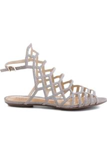 Sandália Rasteira Juliana Mini Shine | Schutz