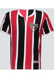 Camisa Infantil São Paulo Retrô 1971 Paulistão Masculina - Masculino-Vermelho