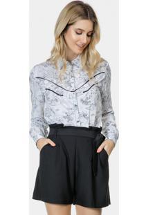 Camisa Manga Longa Bordado Tecido Alpine - Lez A Lez