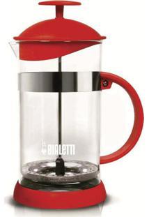 Cafeteira French Press Basic 1 Litro Vermelho Bialetti