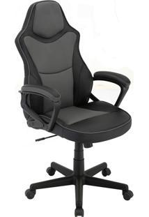 Cadeira Office Gamer Rush-Rivatti - Cinza / Preto