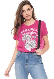 Camiseta Colcci Estampada Pink