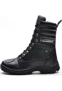 Bota Helazza Boots Motociclista Preta