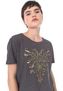 Camiseta Cavalera Aguia Foil Grafite