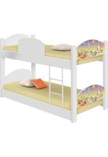 Beliche Infantil Fundo Do Mar Feliz Com 2 Colchãµes Casah - Branco/Multicolorido - Dafiti