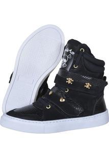 Sneaker Fitness Cheia De Marra 1001 Preto