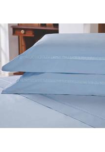 Jogo De Lençol Majestic Beauty Casal Azul 233 Fios