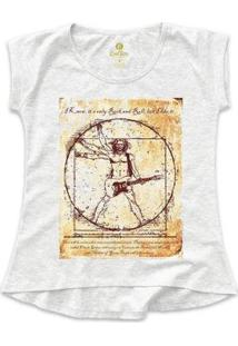 Camiseta Cool Tees Rock Feminina - Feminino-Mescla Claro