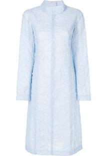 Marni Vestido Midi Translúcido - Azul