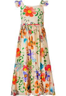Vestido Infantil Longo Cattai Floral