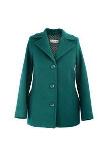 Casaco Feminino Salis De Lã 7175 Verde Escuro