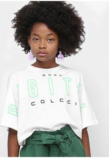 Blusa Cropped Infantil Colcci Fun Digital Feminina - Feminino
