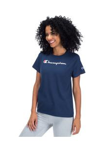 Camiseta Champion Clássica Y07418 - Feminina - Azul Escuro