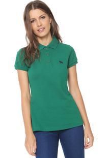 53231eac479c5 Camisa Polo Acostamento Logo Verde