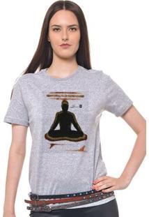 Camiseta Feminina Joss - Buda Pranchas - Feminino-Mescla