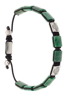 Nialaya Jewelry Bracelete 'Dorje Flatbead' Com Jade Africana - Verde