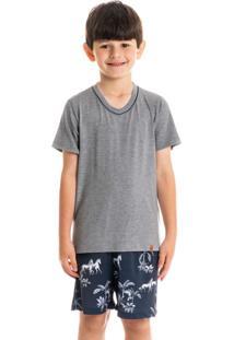 Pijama Infantil Masculino Curto Estampado Hipismo