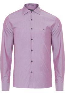 Camisa Masculina Chambray - Roxo