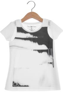 Camiseta Calvin Klein Kids Jato Infantil Branca