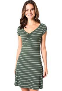 Vestido Estampado Mercatto 1765515 Verde