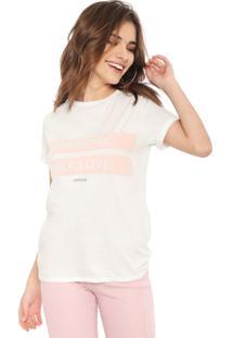 Camiseta Lez A Lez Self Love Branca/Rosa