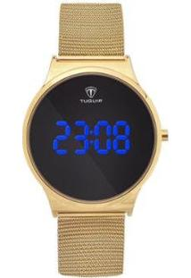 Relógio Tuguir Digital Feminino - Feminino-Dourado