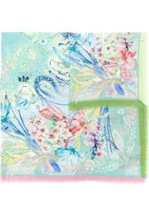 Etro Cachecol Com Estampa Floral - Azul