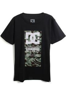 Camiseta Dc Shoes Menino Logo Preta