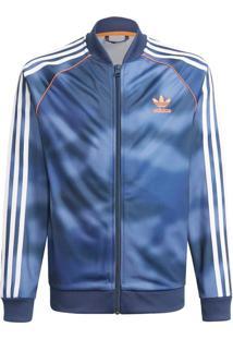 Jaqueta Adidas Jaqueta Allover Print Camo Sst Originals Azul