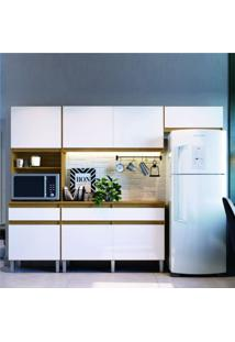 Cozinha Compacta 4 Peças Pimenta Decibal Naturalle/Branco