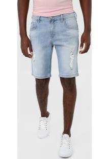 Bermuda Jeans Forum Reta Destroyed Azul - Kanui