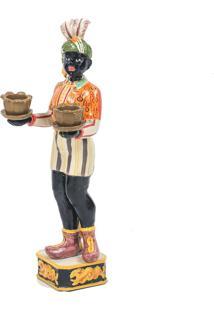 Escultura Decorativa De Bronze África Ii