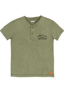 Camiseta Infantil Menino Com Bordado