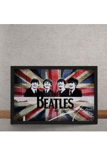 Quadro Decorativo Beatles Bandeira Inglaterra 25X35