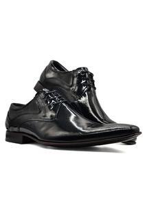 Sapato Social Derby Masculino Bico Fino Sola Couro Mod 379 Cinza
