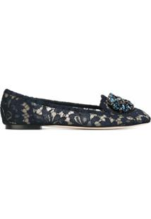 Dolce & Gabbana Slippers Modelo 'Vally' - Azul