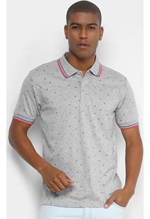 Camisa Polo Broken Rules Mini Print Geométrico Masculina - Masculino 4ba9bd5350