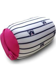 Almofada Porta Celular Bulldog- Branca & Rosa- 27Xã˜1Fom